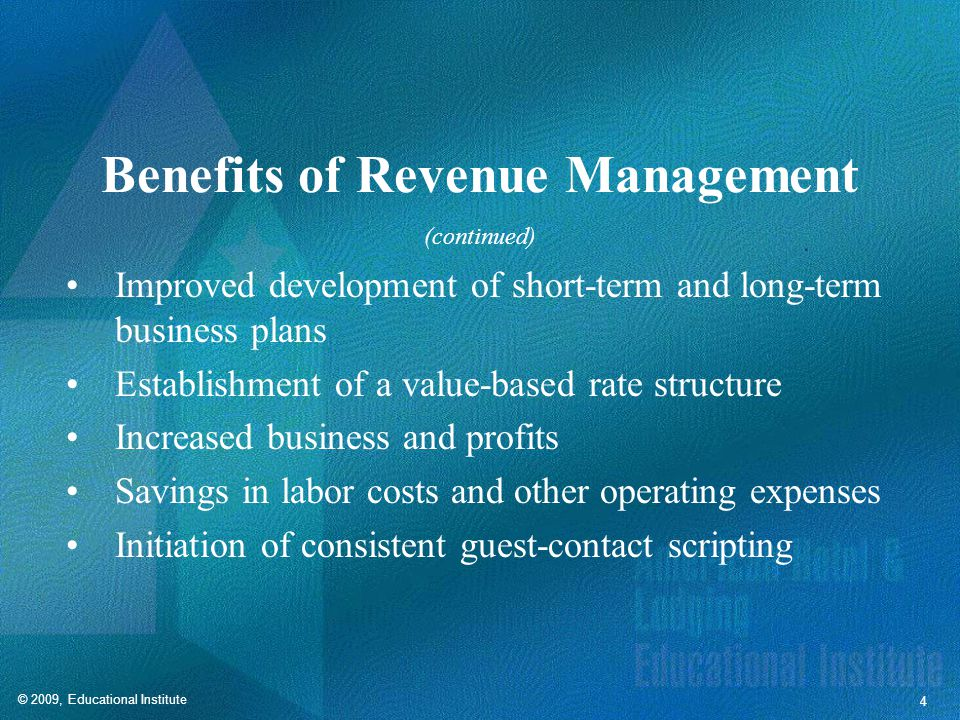 Revenue Management Methods