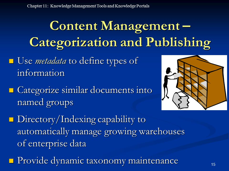 Content Management – Categorization and Publishing