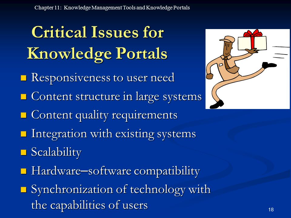 Critical Issues for Knowledge Portals