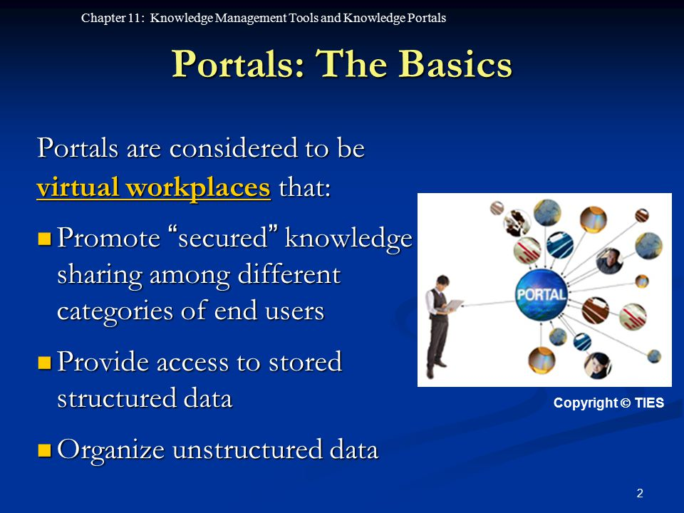 Portals: The Basics Portals are considered to be