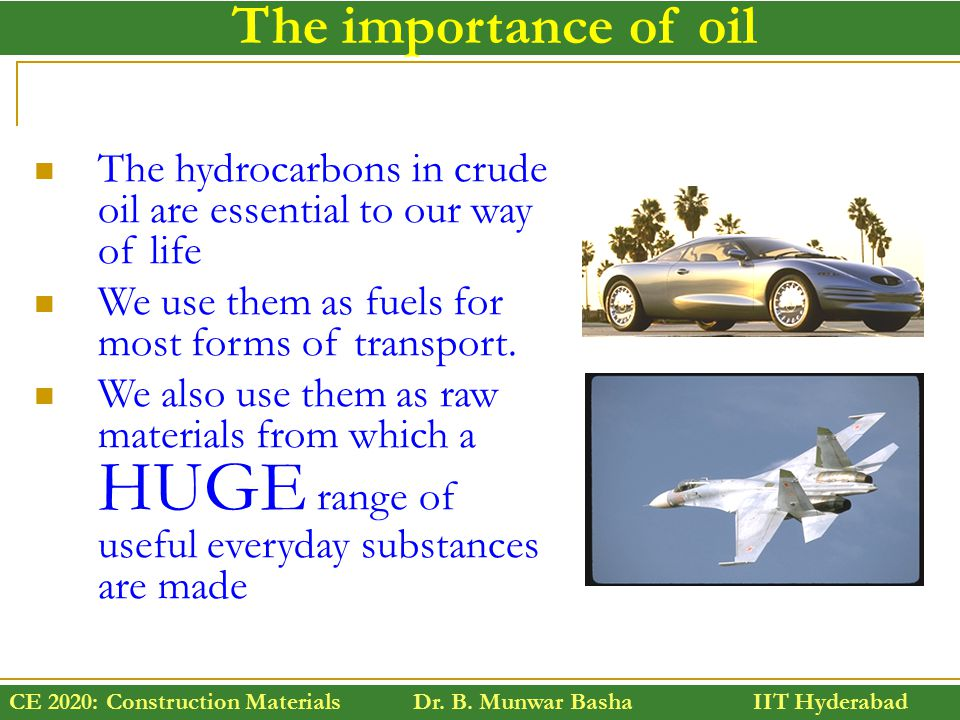 the importance of crude oil essay Free essay on fractional distillation of crude oil available totally free at echeatcom, the largest free essay community.