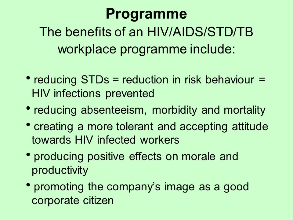 aids in the workplace managing employees with aids 32 employees' knowledge of hiv/aids 62 challenges and constraints in managing hiv/aids at workplace on managing hiv/aids in the workplace among san project.