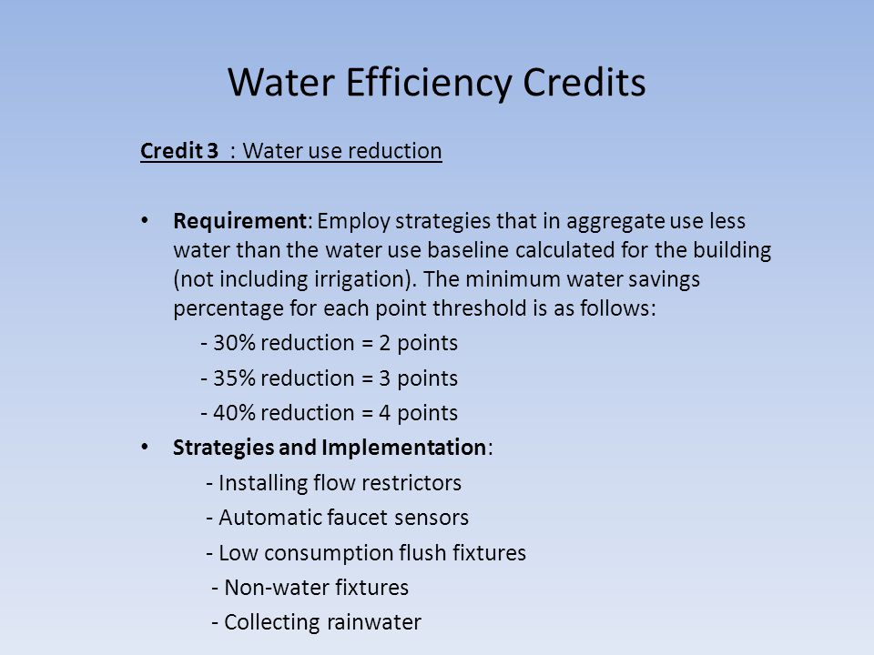 Water Sustainability in Commercial and Residential Buildings - ppt ...