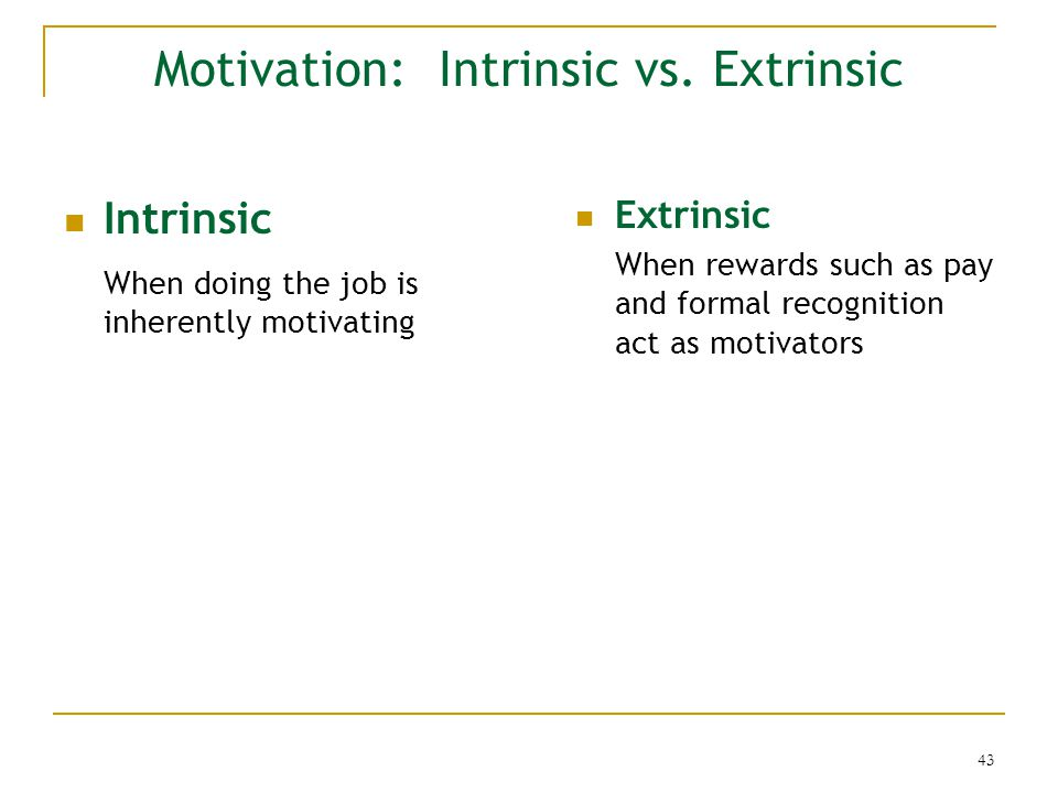 What Is the Difference Between Intrinsic & Extrinsic Motivation?