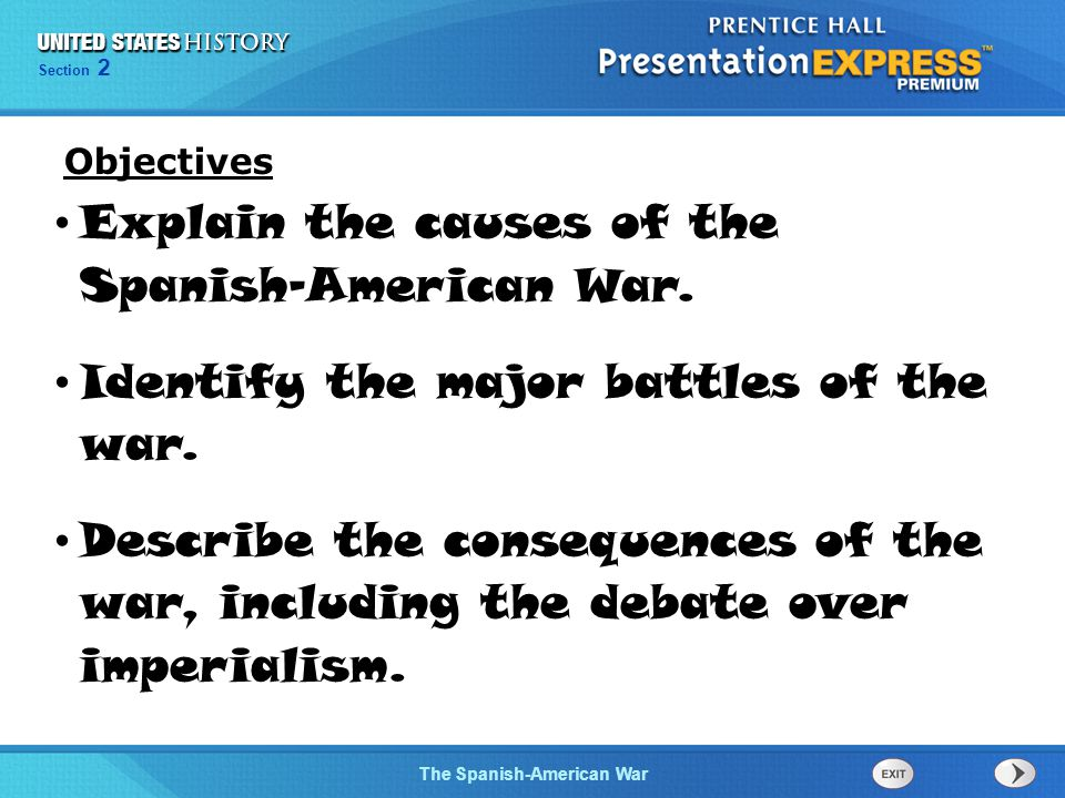 Explain the causes of the SpanishAmerican War ppt download – Spanish American War Worksheet