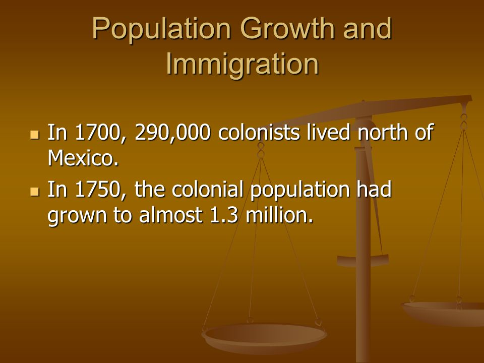 Population Growth and Immigration