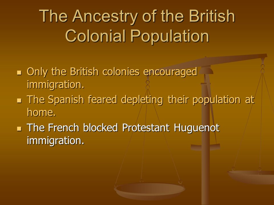 The Ancestry of the British Colonial Population