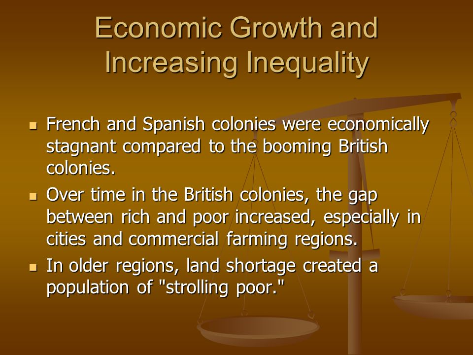Economic Growth and Increasing Inequality