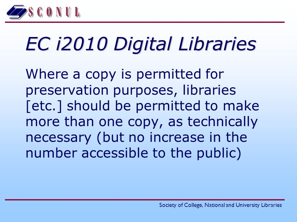 EC i2010 Digital Libraries