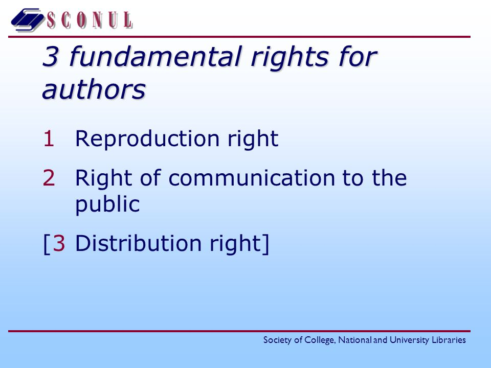 3 fundamental rights for authors