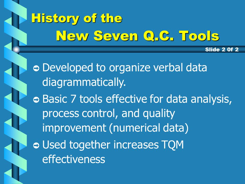 history of quality methodology History deming cup  (who led the quality control effort during the war and developed statistical quality control) while working at bell telephone laboratories.