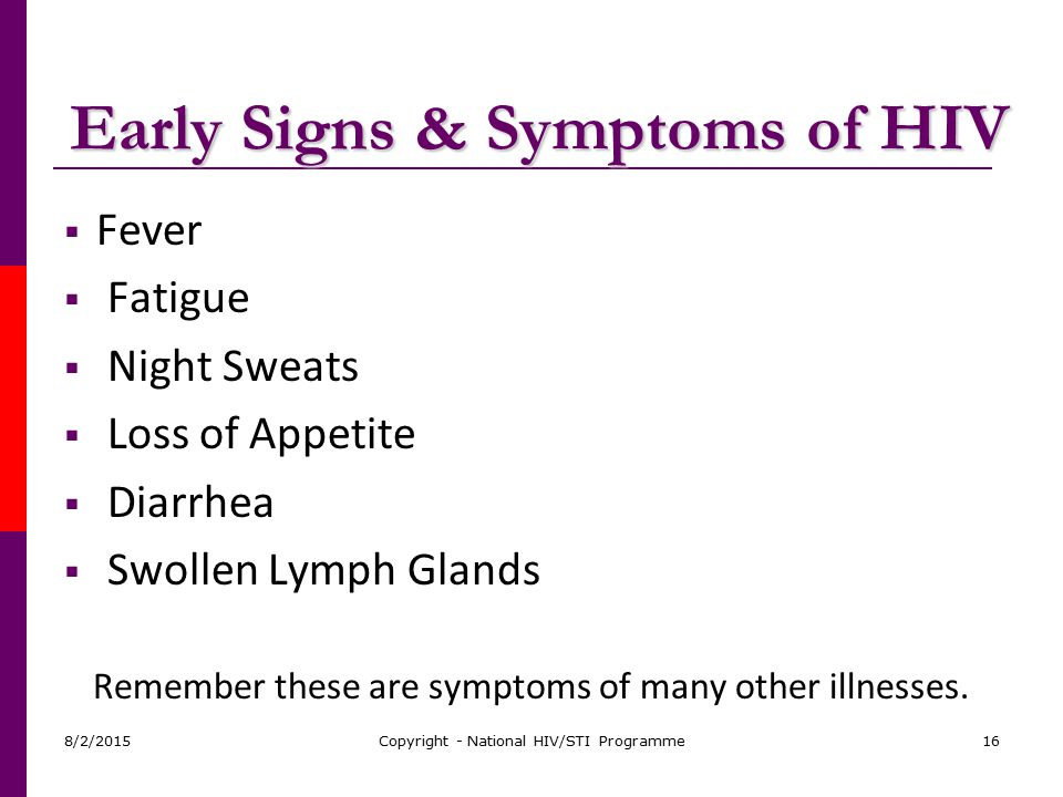 Early Signs & Symptoms of HIV