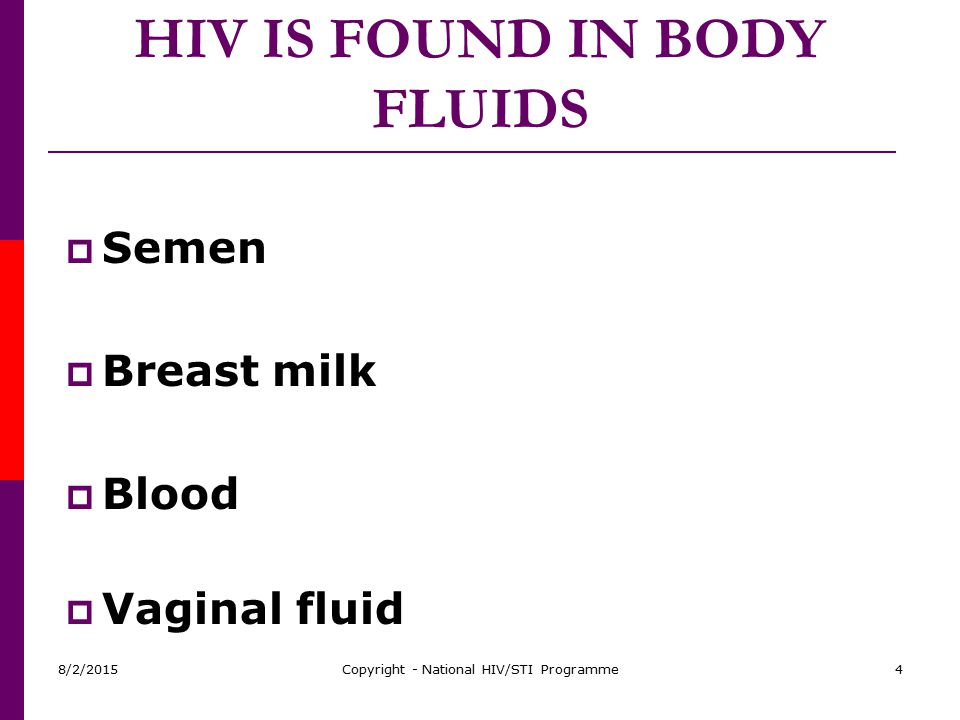 HIV IS FOUND IN BODY FLUIDS