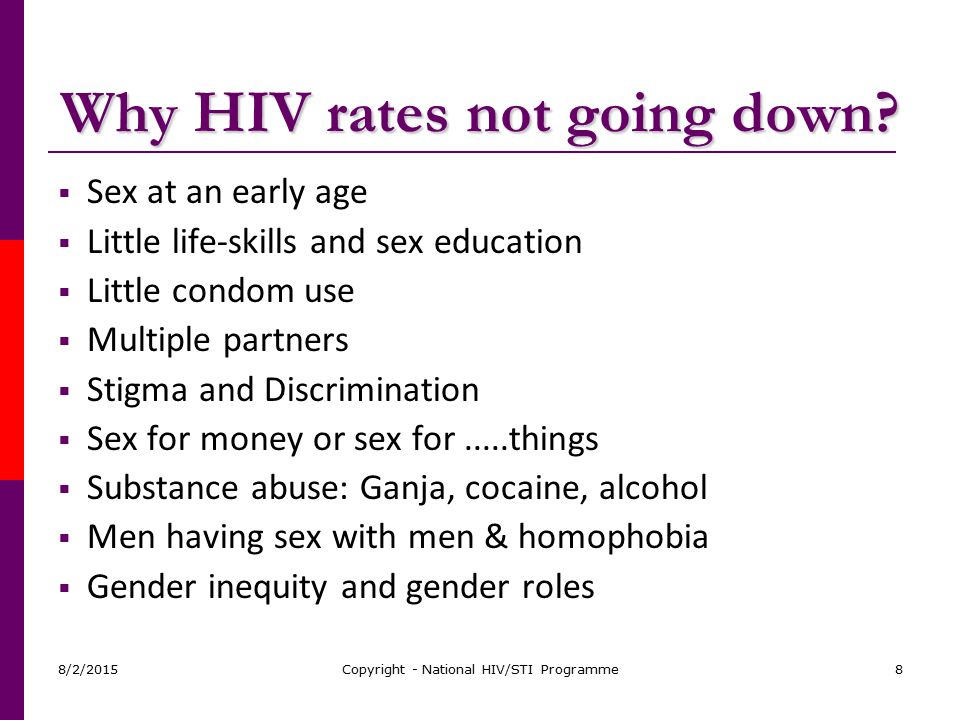 Why HIV rates not going down