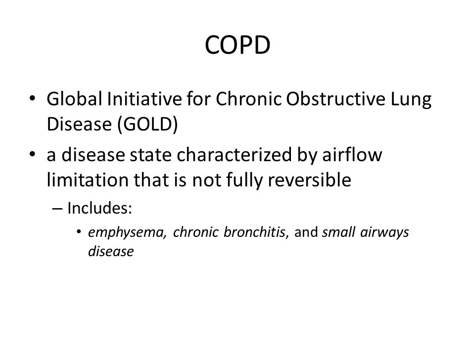 COPD Global Initiative for Chronic Obstructive Lung Disease (GOLD)