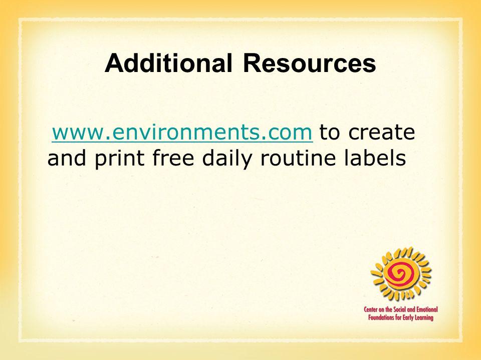 create a daily routine