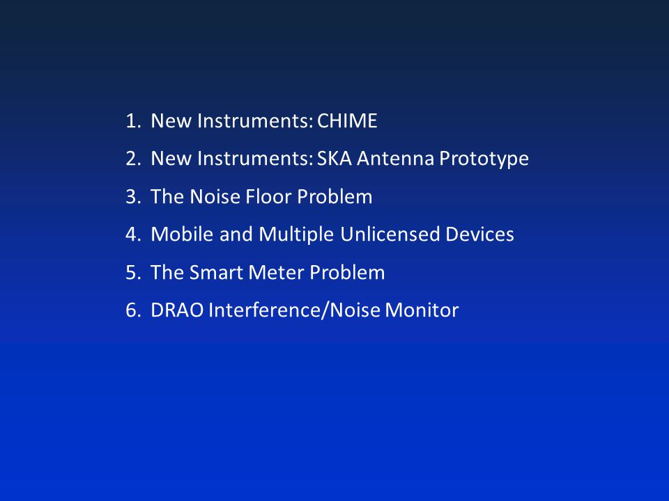 New Instruments: CHIME