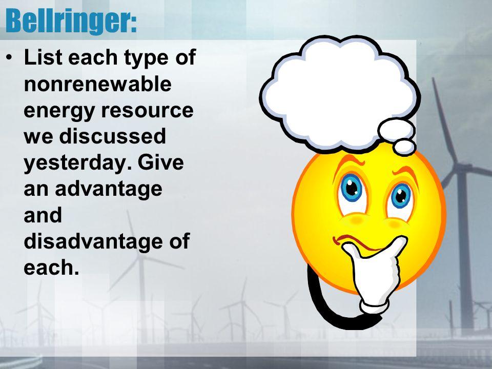 advantages and disadvantages of renewable and nonrenewable resources pdf