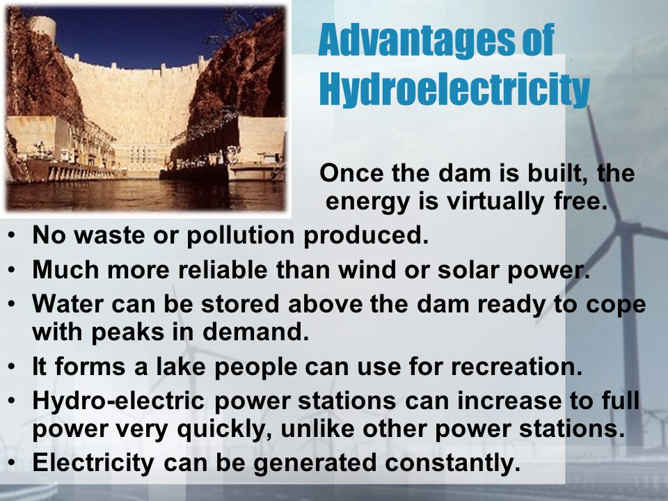 Advantages of Hydroelectricity