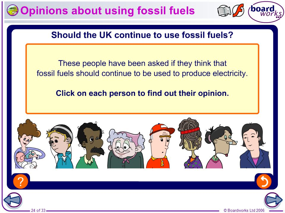 Opinions about using fossil fuels