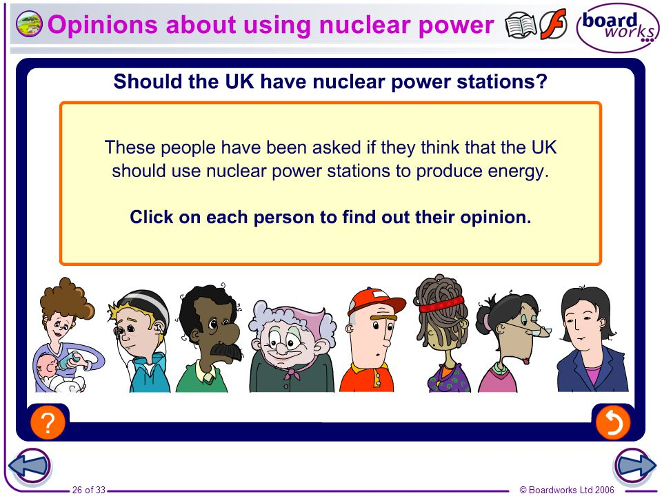 Opinions about using nuclear power