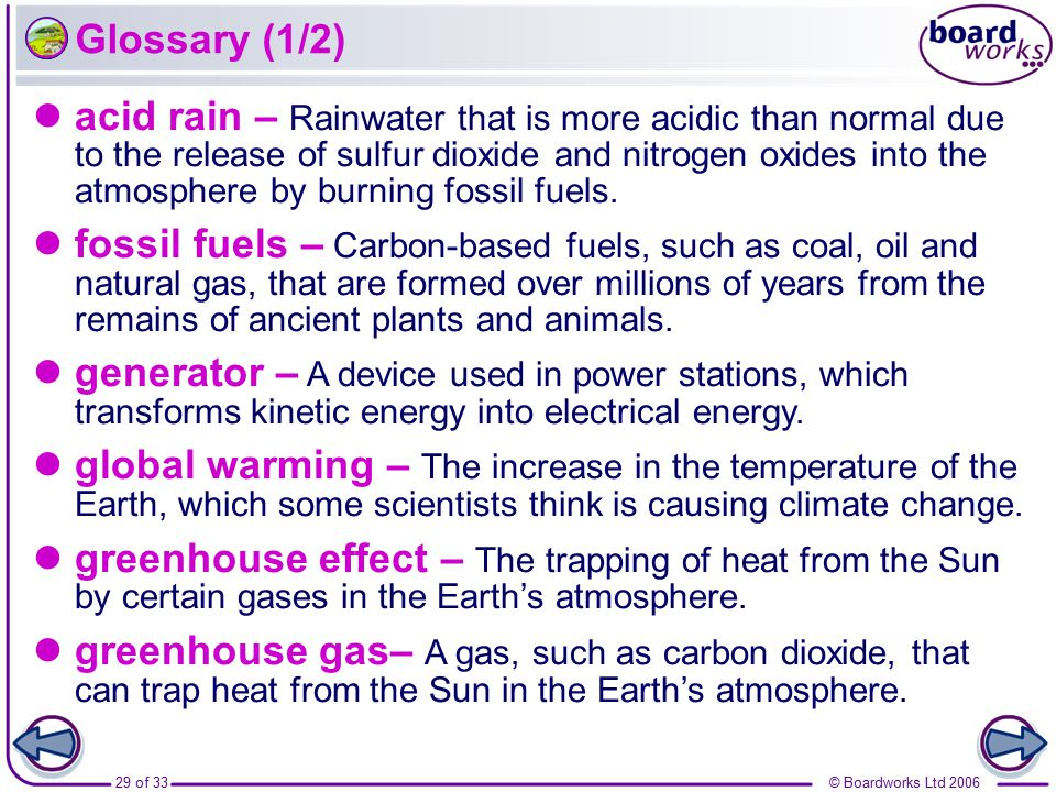 greenhouse effect – The trapping of heat from the Sun