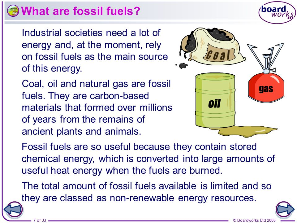The total amount of fossil fuels available is limited and so
