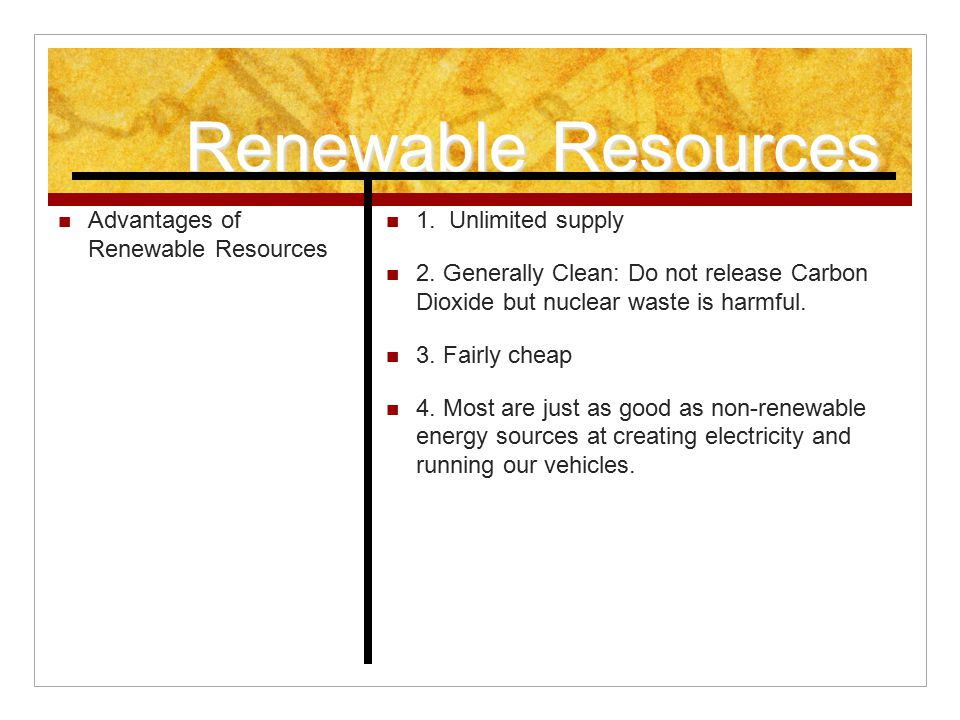 the benefits of using renewable sources of energy Provides general information on energy resources and their environmental is a comprehensive source of data on the environmental characteristics of almost all electrical power in bringing the benefits of energy efficiency and renewable energy to low-income communities energy and the.