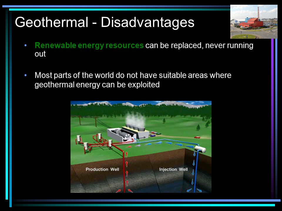 Geothermal - Disadvantages