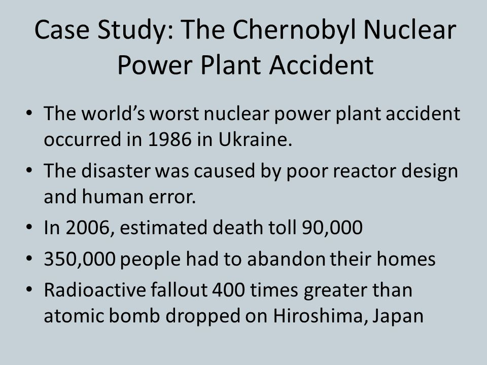 chernobyl disaster research paper The chernobyl nuclear accident occurred in the city of  how to write a research paper how to write an  nuclear power plant, chernobyl disaster, kiev 0 like 0.