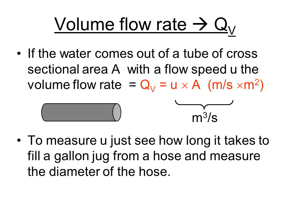 Volumetric flow rate