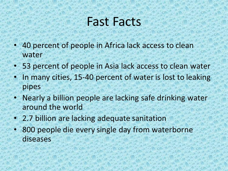 how to help lack of clean water