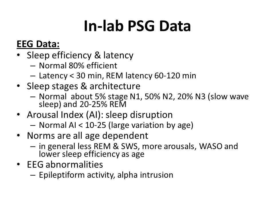 Sleep study high arousal index