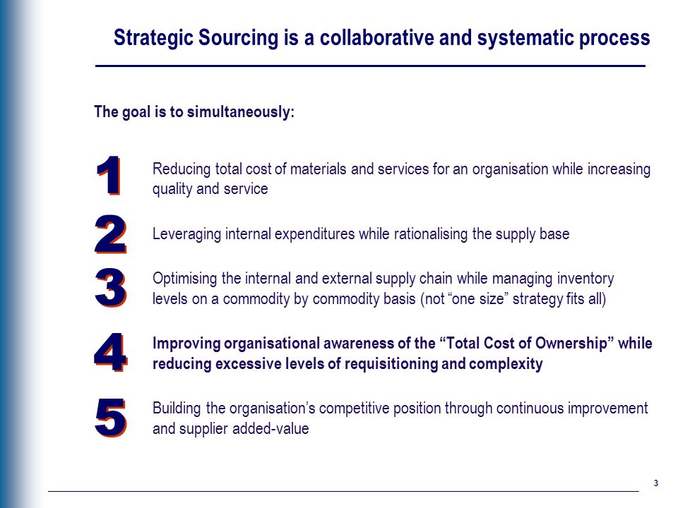 Strategic Sourcing Deloitte Best Practices Approach