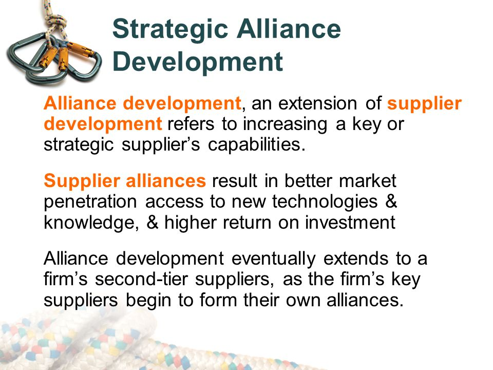 internal development and strategic alliance Or eg a product development partnership in the food industry, alliances are   and on the other it looks at how structured and rational the internal strategy.