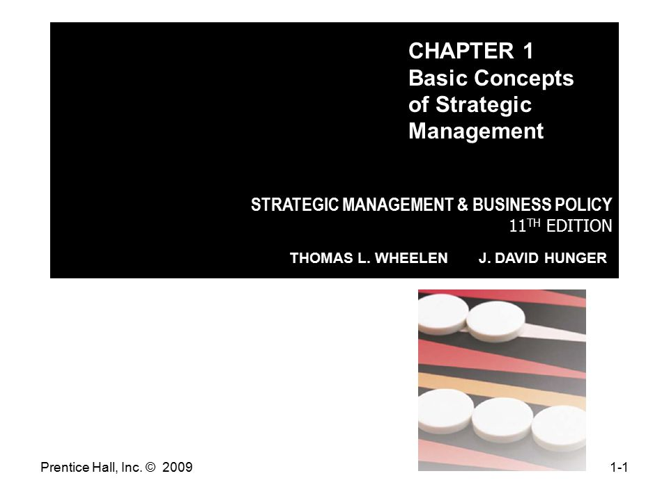 CHAPTER 1 Basic Concepts of Strategic Management