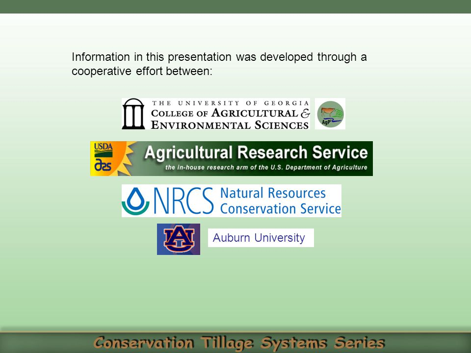 Information in this presentation was developed through a cooperative effort between: