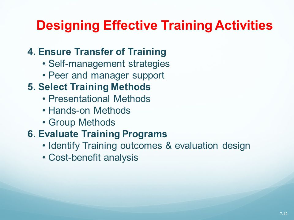 Designing Effective Training Activities