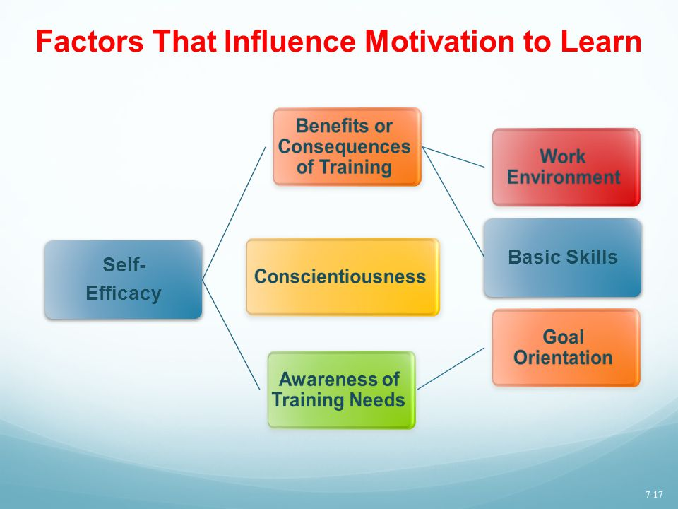 Factors That Influence Motivation to Learn
