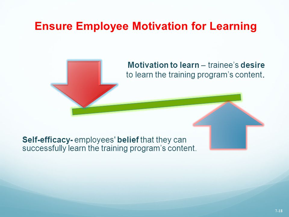 Ensure Employee Motivation for Learning