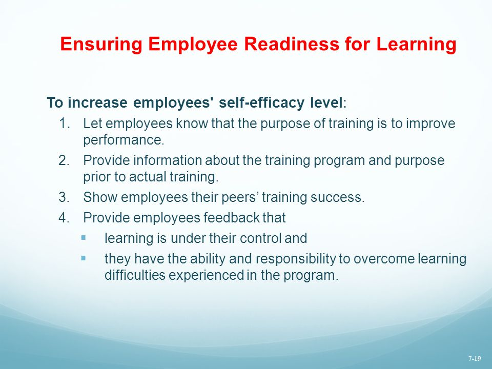 Ensuring Employee Readiness for Learning