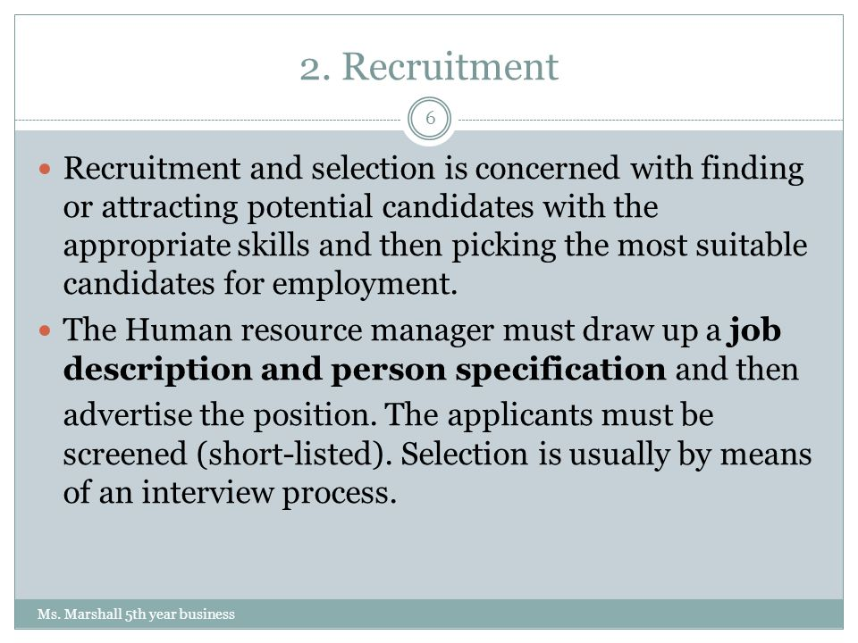 recruitment and potential candidates