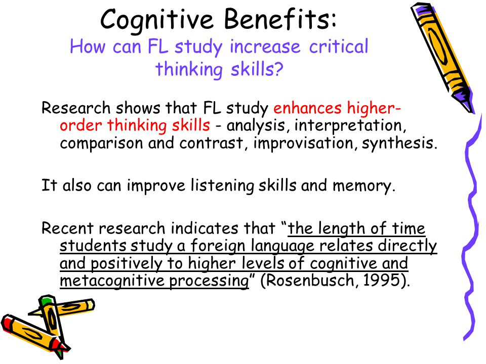 benefits of critical thinking in learning Pedagogy teaching critical thinking using bloom's taxonomy  the advantages  and disadvantages of testing primary school children.