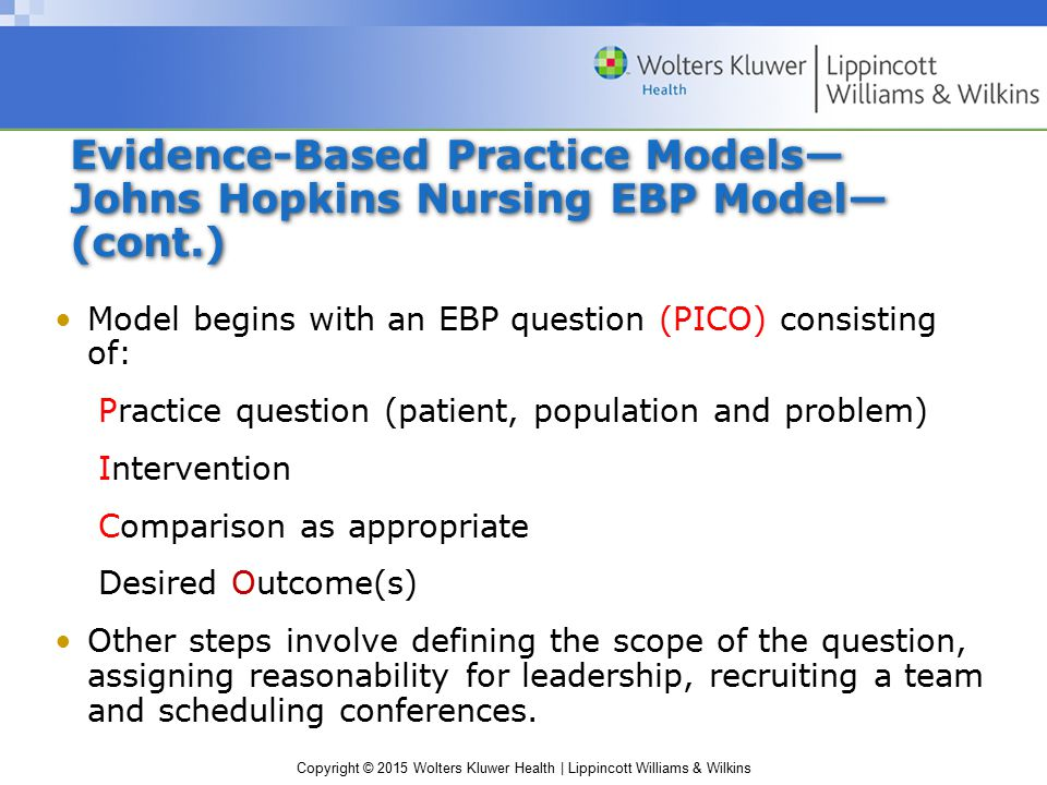 pico ebp The pico strategy for the research question construction and evidence  evidence based practice is the use of the best scientific evidence to support the clinical.