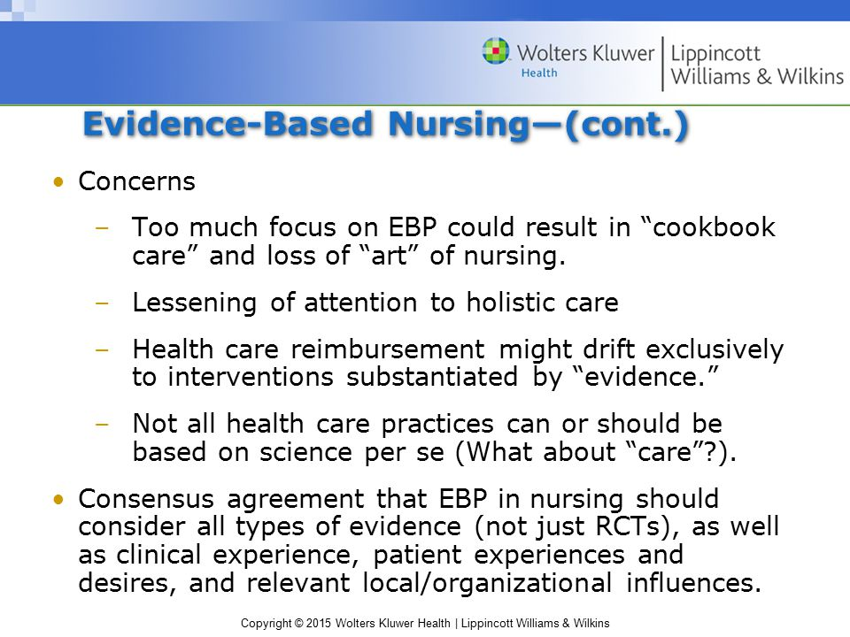 how evidence based practice will influence trends in health care and the Understanding of evidence-based practice, and to share resources that can help   to applying the best available research evidence in the provision of health,  behavior, and education services to enhance outcomes  time programs can  refer to a range of multi-component interventions seeking to affect various  outcomes.