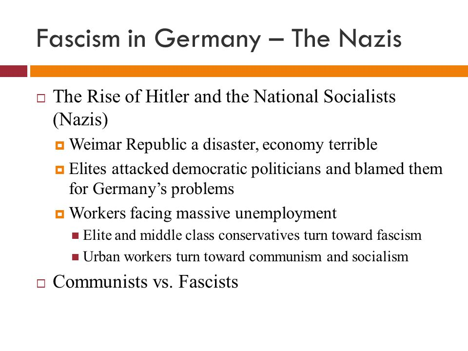the rise of fascism in nazi Depression, fascism, & world war fc131 fc132 fc133 fc134 fc135 fc136 fc137 fc137b fc137b fc134: adolf hitler and the rise of nazism in germany (1919-39.
