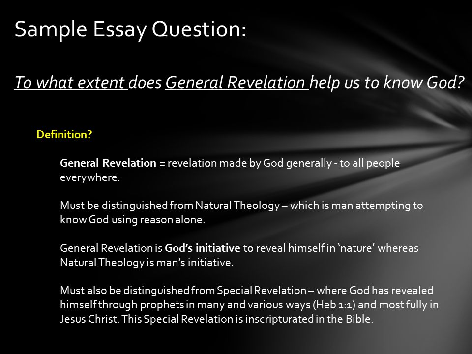 theology of revelation essay