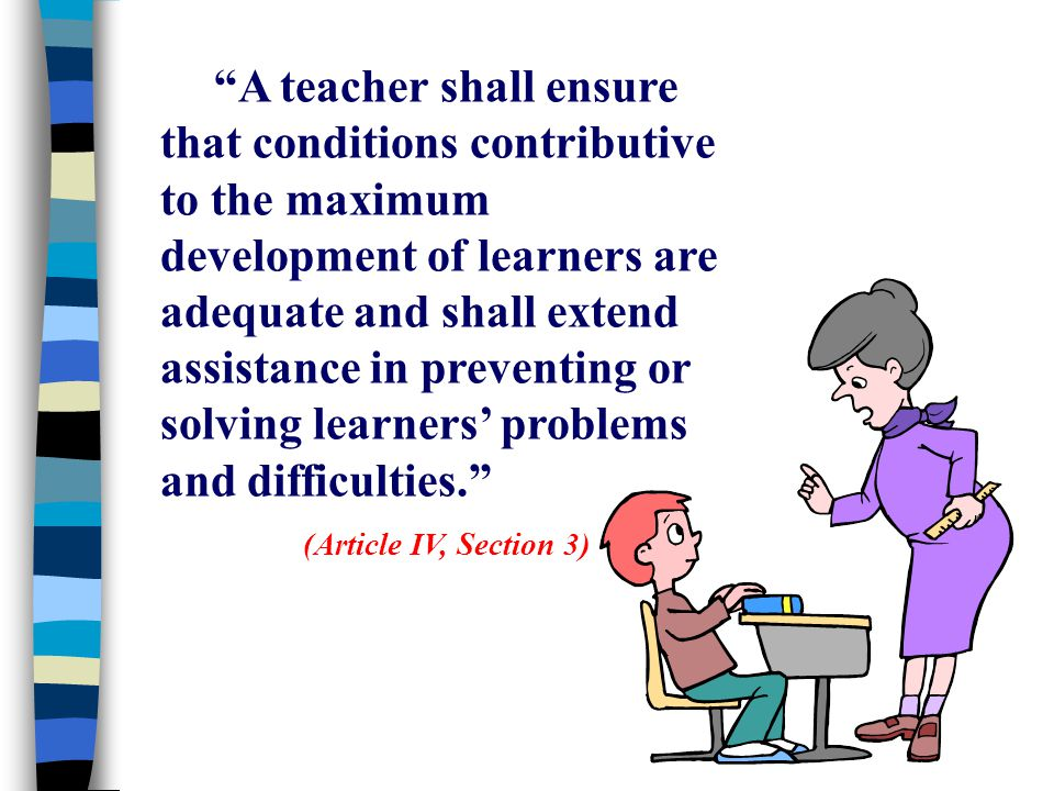 Code Of Ethics For Teachers