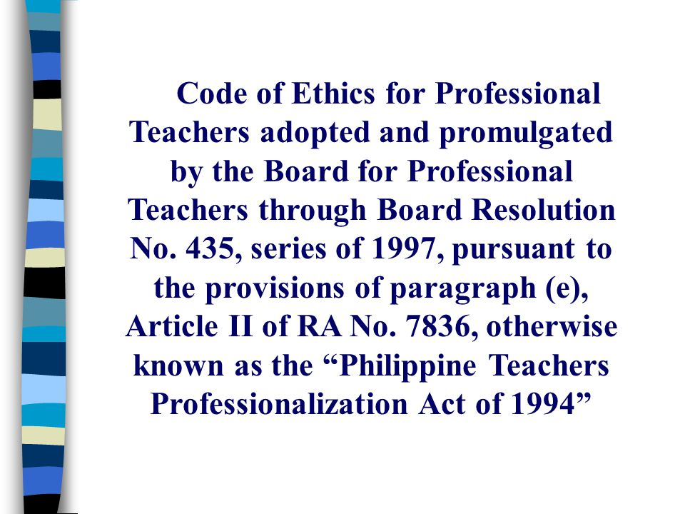 S Professional Code Of Conduct Ethics For
