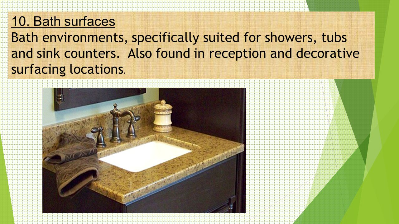 10. Bath surfaces